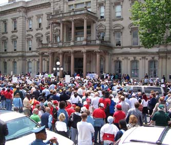 The Annual Cost of Care Rally in Trenton, NJ