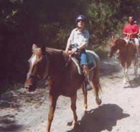 Dan took a trip to Florida, where he fulfilled his dream to go horseback riding