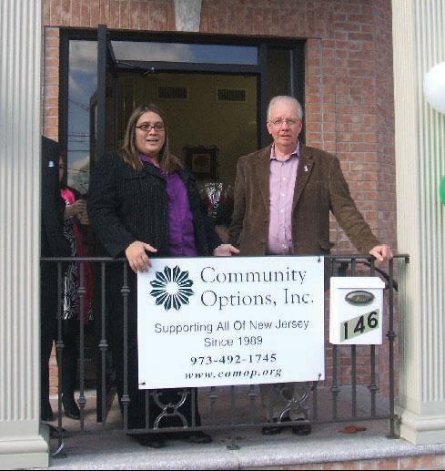 Jessica Guberman, Ph.D., Executive Director of Community Options Enterprises. and Mayor Steenstra of Bloomingdale.
