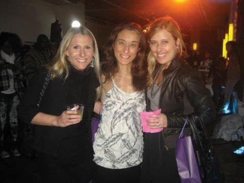 Lindsay, Gabby and Brooke of Community Options of New York City at the Tribeca Retail Club Event.