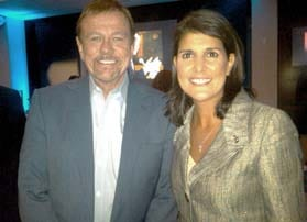 Robert Stack with South Carolina Governor, Nikki Haley