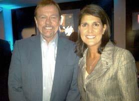Robert Stack with South Carolina Governor, Nikki Haley