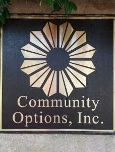 Community Options, Inc. Office Sign.
