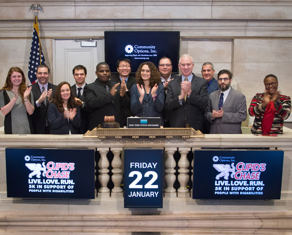 Community Options, Inc. selected Roy King to ring the bell at the New York Stock Exchange, Friday January 22, 2016