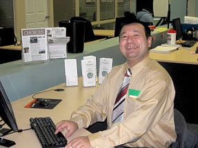 Supported Employment working at desk