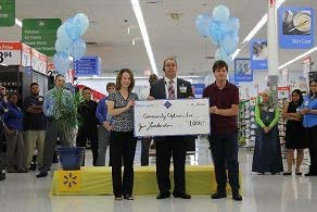L to R – Anne-Marie Salerno, Director of STEP, Jon Lombardo, Princeton Walmart Manager and Dave Giardino, STEP participant