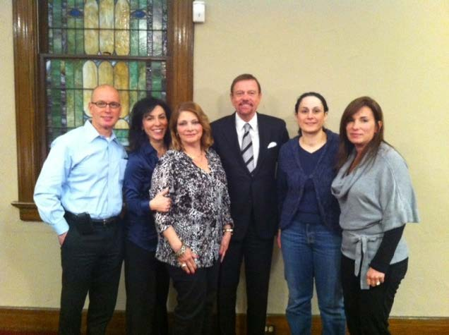 Robert Stack (center) with Family Advocacy Group Members
