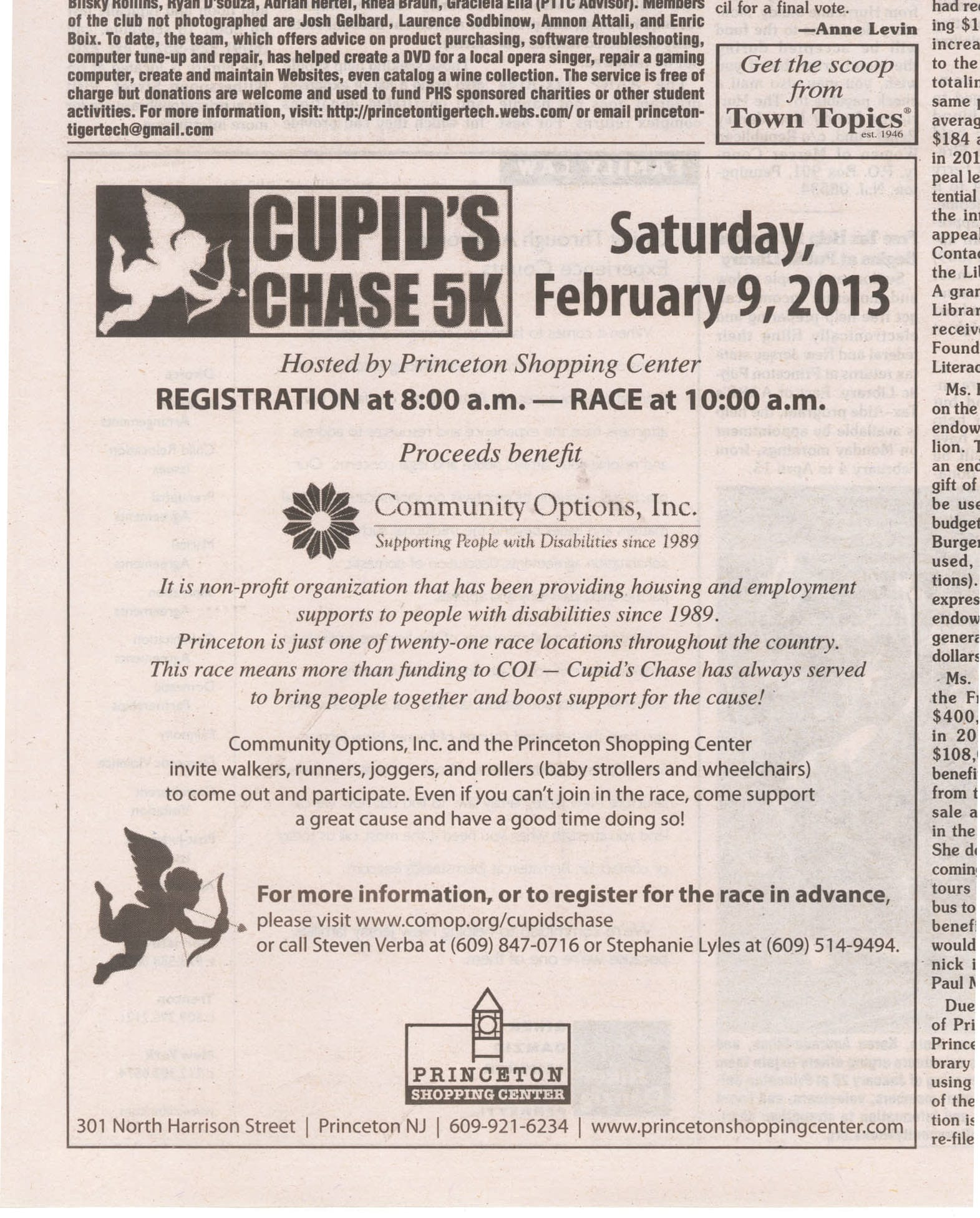 Cupid's Chase 5k Saturday, February 9, 2013