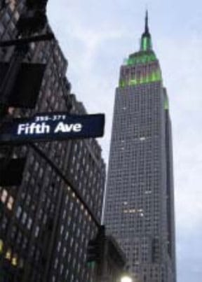 Manhattan office which is now located on the 12 th  floor of the Empire State Building