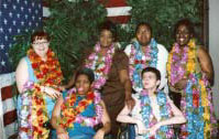 The six travelers departed from Pittsburgh for their eight day stay in sunny, Honolulu.