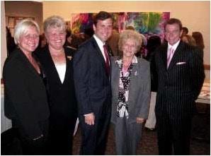 October 11, 2006 - Robin Turner Danielle's aunt, Diane Gruskowski Danielle's mother, Senator Thomas Kean, Jr – a Prime Sponsor of Danielle's Law, Grandmother and Robert Stack.