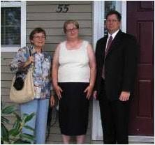 Maxine Blumenthal, Deputy Mayor of Barnegat, NJ, Nancy Seiler and Mayor Thomas E. Hartmen Jr.