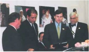 Tom Kean Jr. worked with The Family Alliance to Stop Abuse & Neglect members Diane Gruskowski and Robin Turner toward the creation and enactment of Danielle's Law. Photo 2003