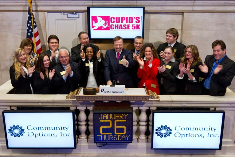 Community Options rings the opening bell at the NYSE