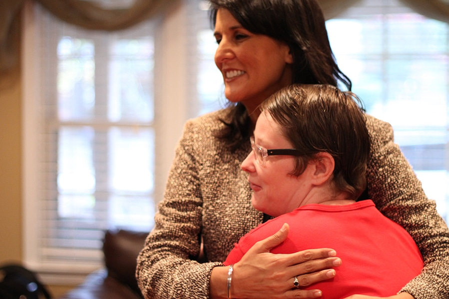Governor Nikki Haley visits with one of our residents