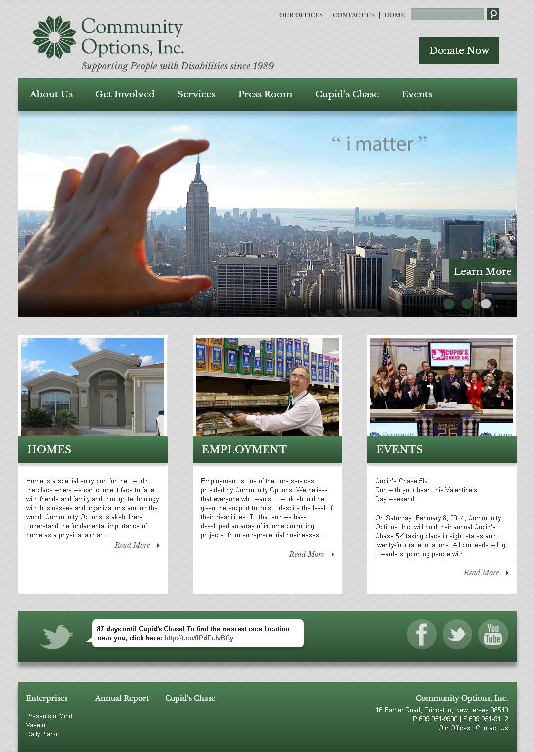 New website redesign screenshot