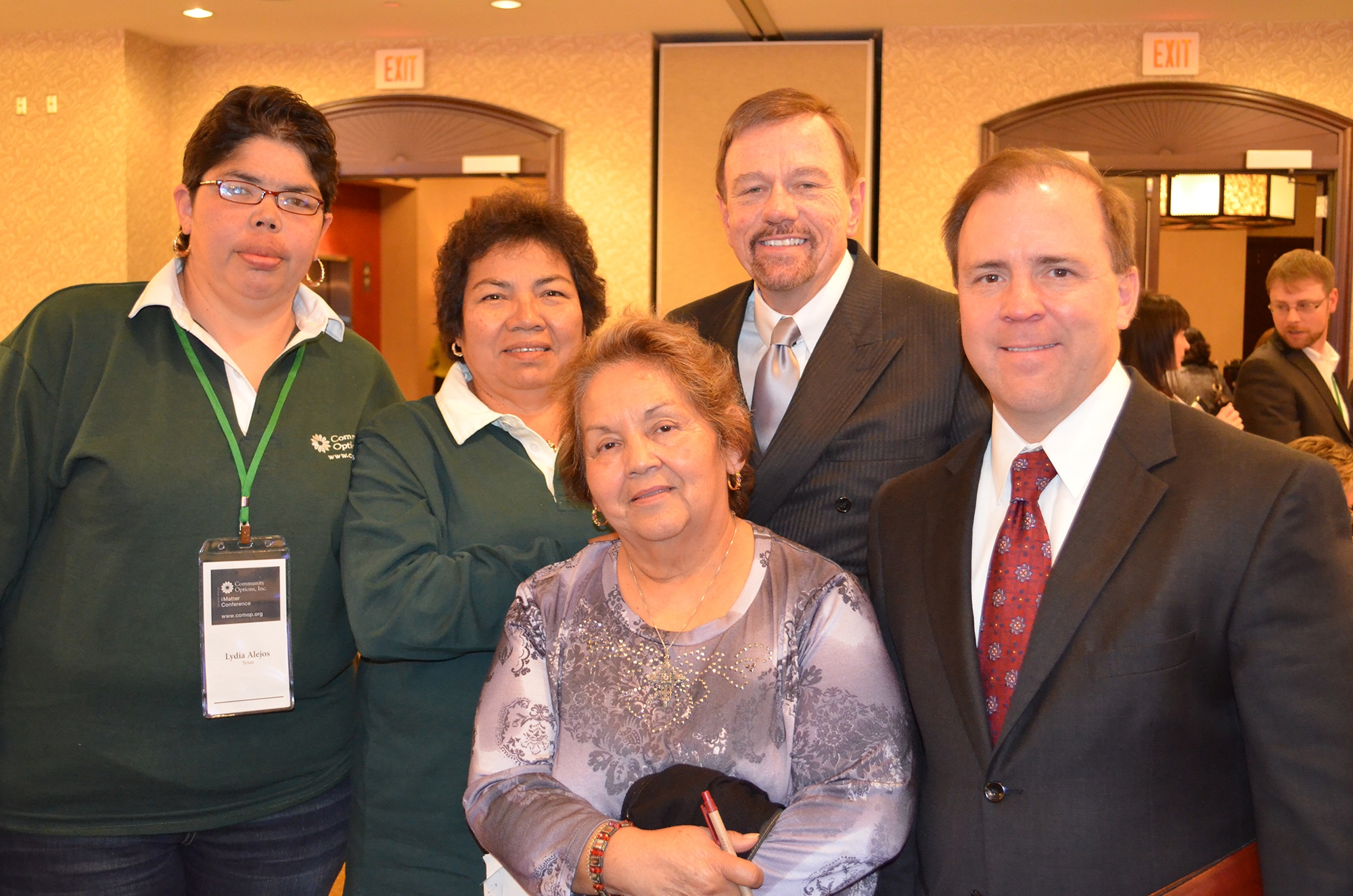 Featured in photo: Beatriz H. Mauricio, Yolanda Montez, Lydia Alejos, Robert Stack and Chris Traylor, Chief Deputy Commissioner, Texas Health & Human Services Commission
