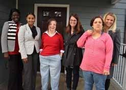 At home for the holidays - From L to R: Community Support Coordinator Awee Taylor; Mercey County, NJ Executive Director Teresa Snyder, Vanessa, Princeton Mayor Liz Lempert, Lillian; Regional VP of NJ Svetlana Repic-Qira.