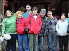 Community Options Day Habilitation participants from Binghamton, NY at the Ross Park Zoo