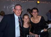 Caren Franzini and family pose after receiving her award for Person of the Year at the Morven in Princeton, NJ.