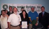 Pittsburgh's Mayor Luke Ravenstahl (Far Right) read a proclamation declaring October 22-26 as Community Options Disability Awareness Week.