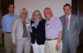 Derek Wright, Marge Brown, Dr. Colleen Wieck, Dr. Clarence York, & Robert Stack, President & CEO
