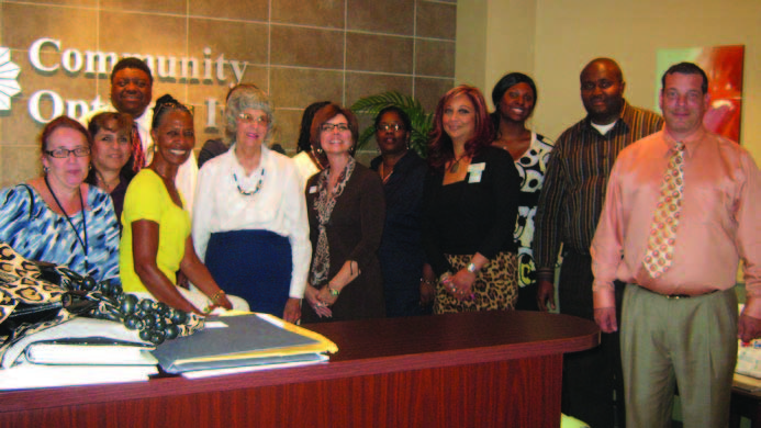 Featured in photo left to right - Annette Sweet- City of San Antonio, Eva Lopez, Medical Doctor Johnny Weddington, DARS Representative, Joyce Cantu, Lifetime Recovery, Billie Zimmerman, Owner/CEO of Zimmerman Real Estate, Stacia Rogers (unseen behind Zimmerman) District Attorney, Sherry Fincher, Bank of America, Lanee Collins (unseen behind Fincher) Employment Specialist, Marilyn Collins, City of San Antonio ( Municipal Court), Margaret Aiken, Wachovia Bank, Jennifer James- DARS Representative, Cyril Chuku, DARS Representative. Alicia Fruin - Owner/CEO/Business Coach, (attended meeting via conference call).