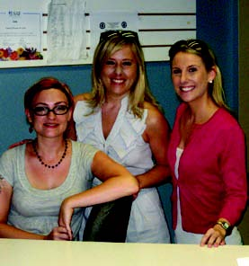 Tara Loversidge, Region Director for Community Options Enterprises, Brooke Reynolds, Community Options Executive Director, New York City & Lindsay Aqulina visit Vaseful Flowers & Gifts.