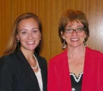 Courtney Eidel, Senior Director of Human Resources with Chai Feldblum (right) Commissioner of the EEOC