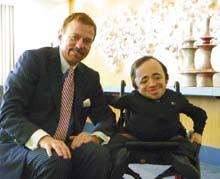 Robert Stack with Sean Stephenson (right) Motivational Speaker