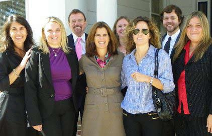 From left to right (front row) Susan Kyrillos, Svetlana Repic-Qira, First Lady Mary Pat Christie, Kathryn Oram, Jessica Guberman (back row) Robert Stack, Delia Donahue and Steve Verba