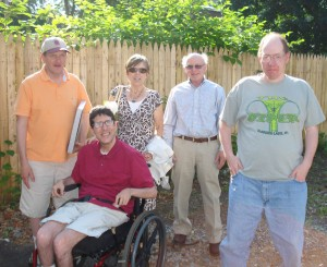 Featured in Photo from left to right: Anthony, Billy, Carol and Leo Martin, and Joe