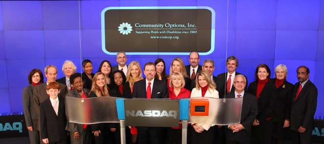 Community Options Rings Opening Bell at the NASDAQ Stock Market