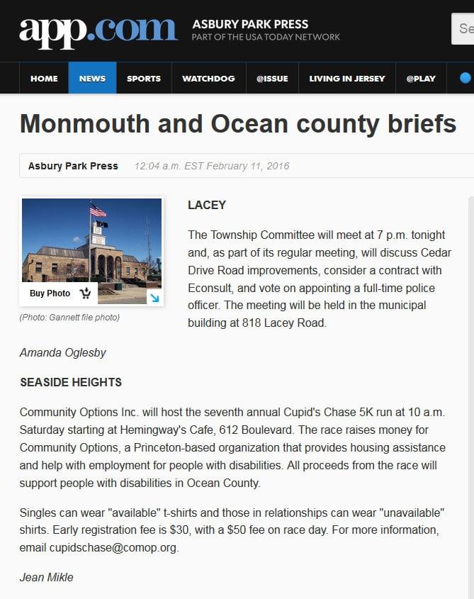 Asbury Park Press article online