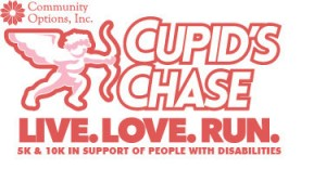 Cupid's Chase Logo. Live. Love. Run.
