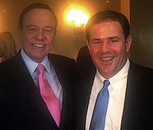 Arizona Governor Doug Ducey and Robert Stack