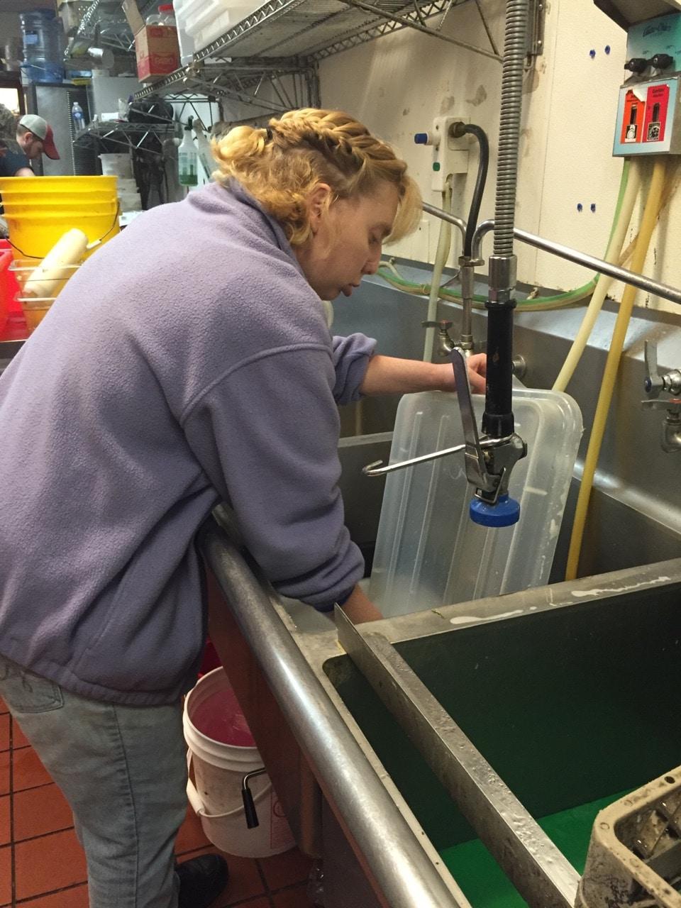 Amanda Washing Dishes