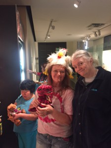 May 11th 2015 - Peggy (on the right) at the NYC Museum of Natural History' gift shop.