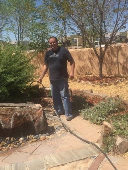 Steven Filling A Water Fountain