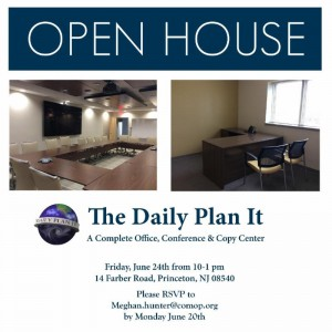 On Friday, June 24 from 10 a.m. to 1 p.m., national nonprofit Community Options, Inc. will be holding an open house at their Daily Plan It in Princeton, NJ. The new building is located at 14 Farber Road in Princeton.