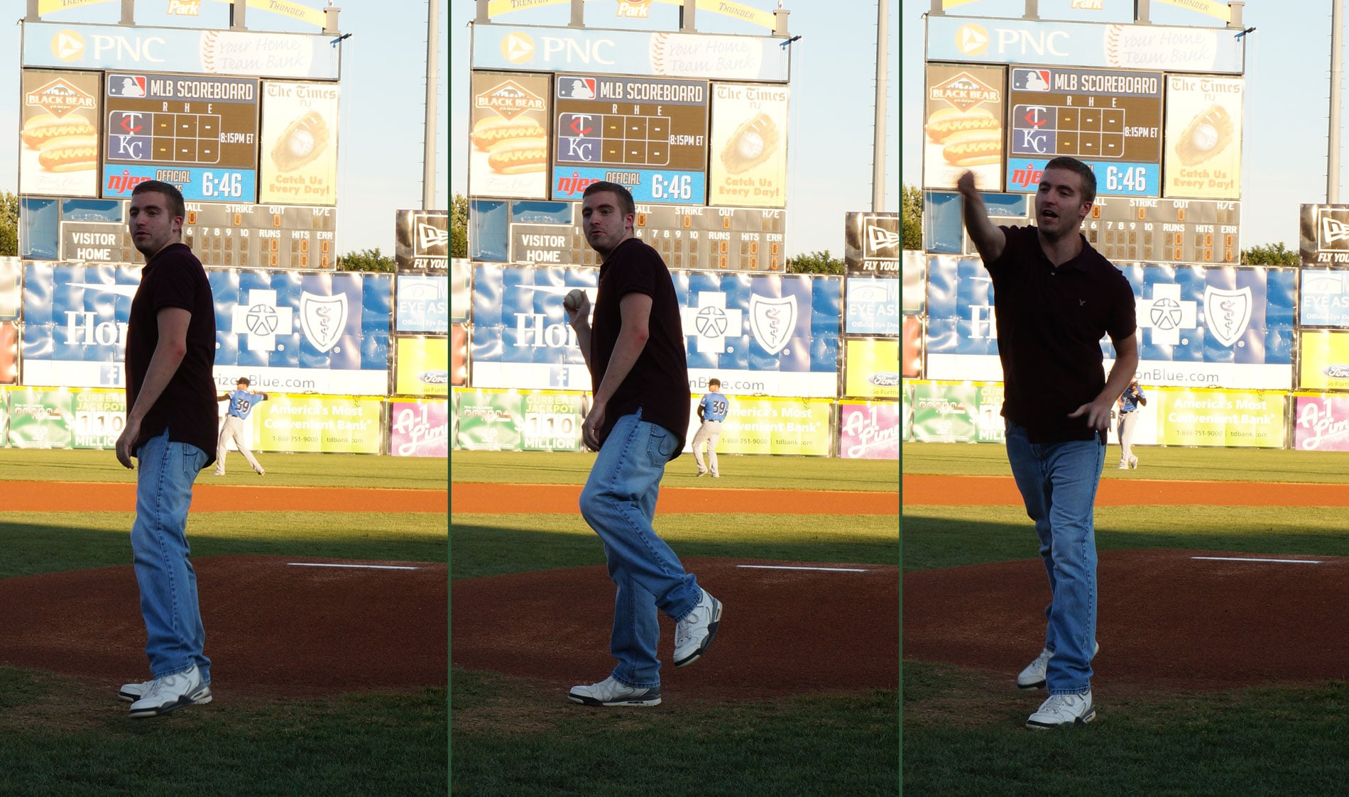 STEP Participant Brian V. threw out the ceremonial first pitch at the game.