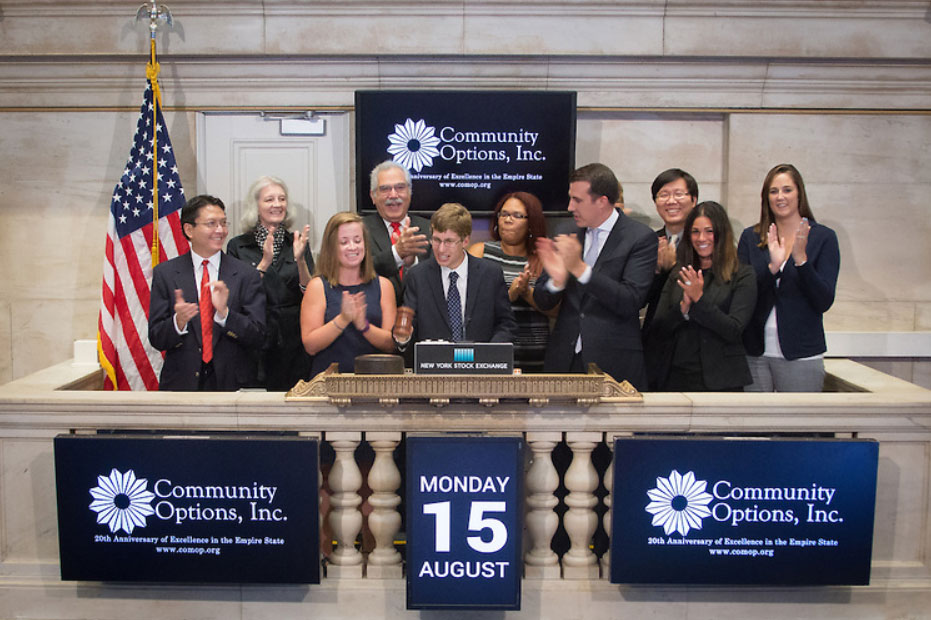 STEP participant Max Depelteau will be ringing the NYSE Closing Bell for Community Options.