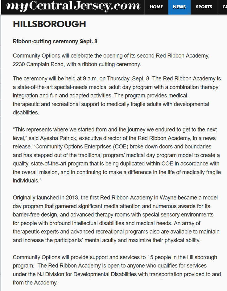 What's happening in HILLSBOROUGH: Ribbon-cutting ceremony Sept. 8