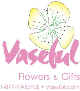 Vaseful Flowers & Gifts 1-877-VASEFUL • vaseful.com Logo