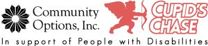 Community Options, Inc. In Support of people with disabilities Cupid's Chase Logo