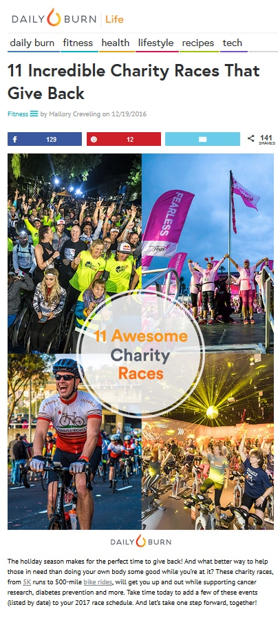 dailyburn.com - 11 Incredible Charity Races That Give Back