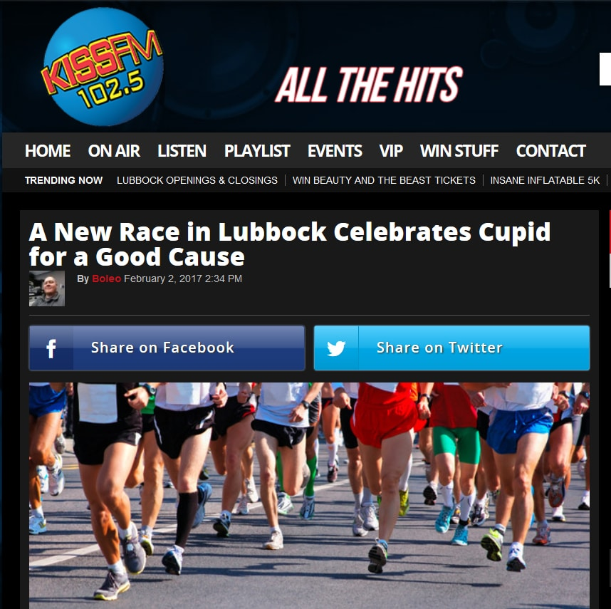 A New Race in Lubbock Celebrates Cupid for a Good Cause