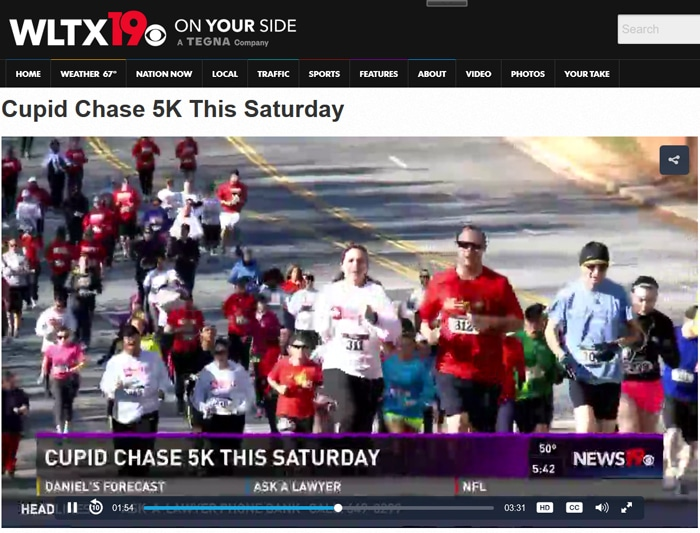 Cupid Chase 5K This Saturday