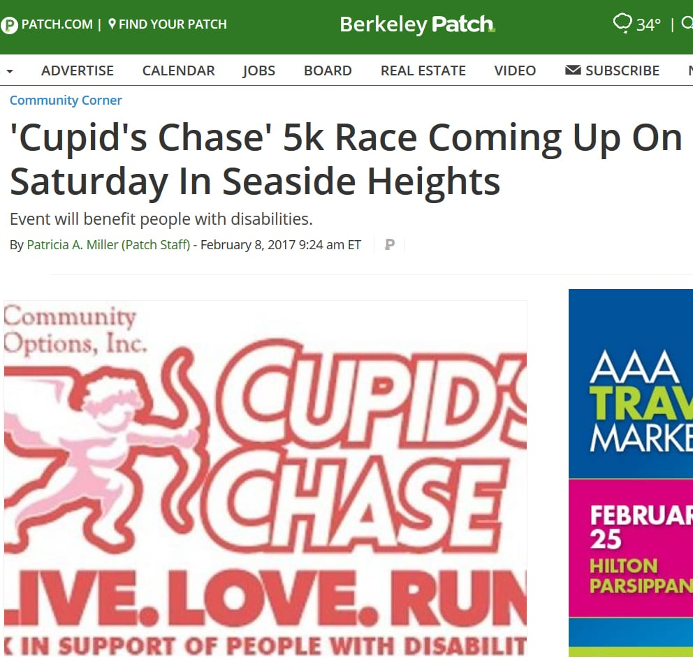 Cupid's Chase' 5k Race Coming Up On Saturday In Seaside Heights