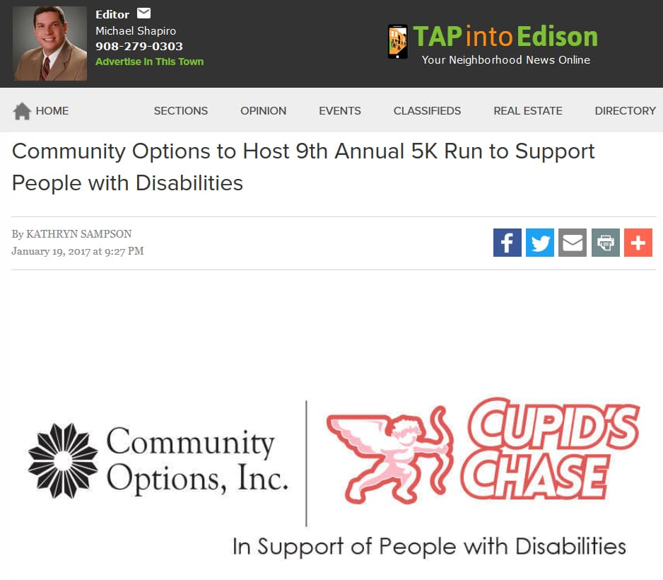 Community Options to Host 9th Annual 5K Run to Support People with Disabilities